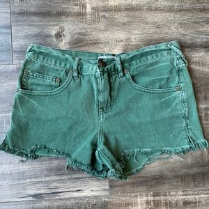 Free people denim green short size 25